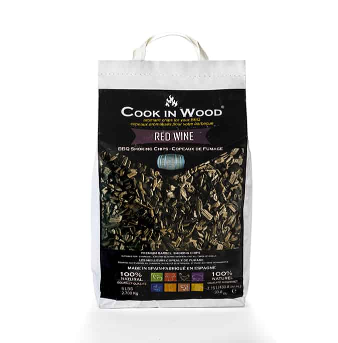 שבבי עץ לעישון Cook In Wood 2.7Kg בניחוח יין אדום 1